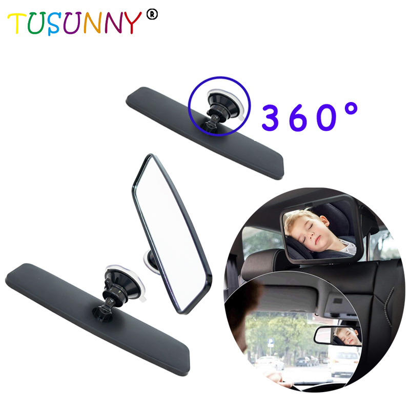 TUSUNNY Baby Backseat Car Safety Mirror Wide View Of Rear Facing Back Seat