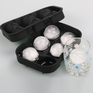 Ice Balls Maker Round Sphere Tray Mold Cube Whiskey Ball Cocktails Silicone 6 Holes Ice Cube Tray Big Round Sphere Maker Tools(China)