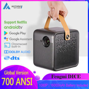 Home Theater Dice Projector Fengmi 700ANSI Smart TV 1080P Video HD Beamer 2 2GB 16GB