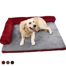 Sofá do animal de estimação camas do cão impermeável macio veludo quente gato cama casa para cachorro grande cães & gatos cobertor bom para a espinha