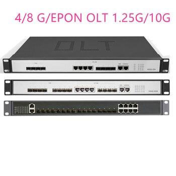 4/8G/EPON OLT 4/8 PON  4 SFP 1.25G/10G SC  Open software WEB management SFP PX20+ PX20++ PX20+++/C+/C++ UI Open software