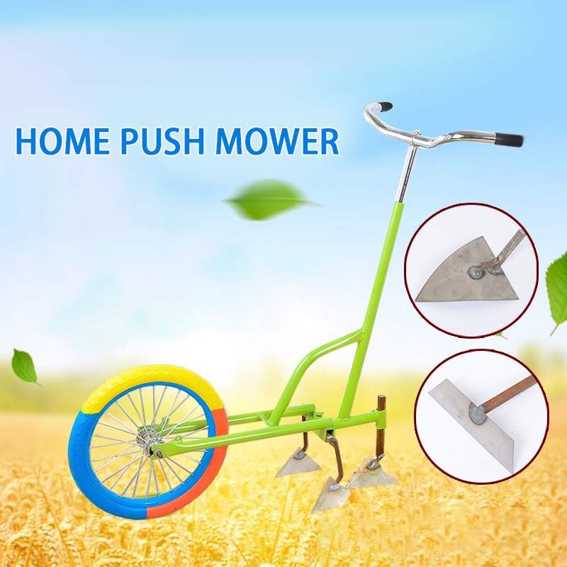 Household Small Hand Push Weeder Tiller Tumbling Soil Tillage Rotary Tiller Mower Agricultural Tools