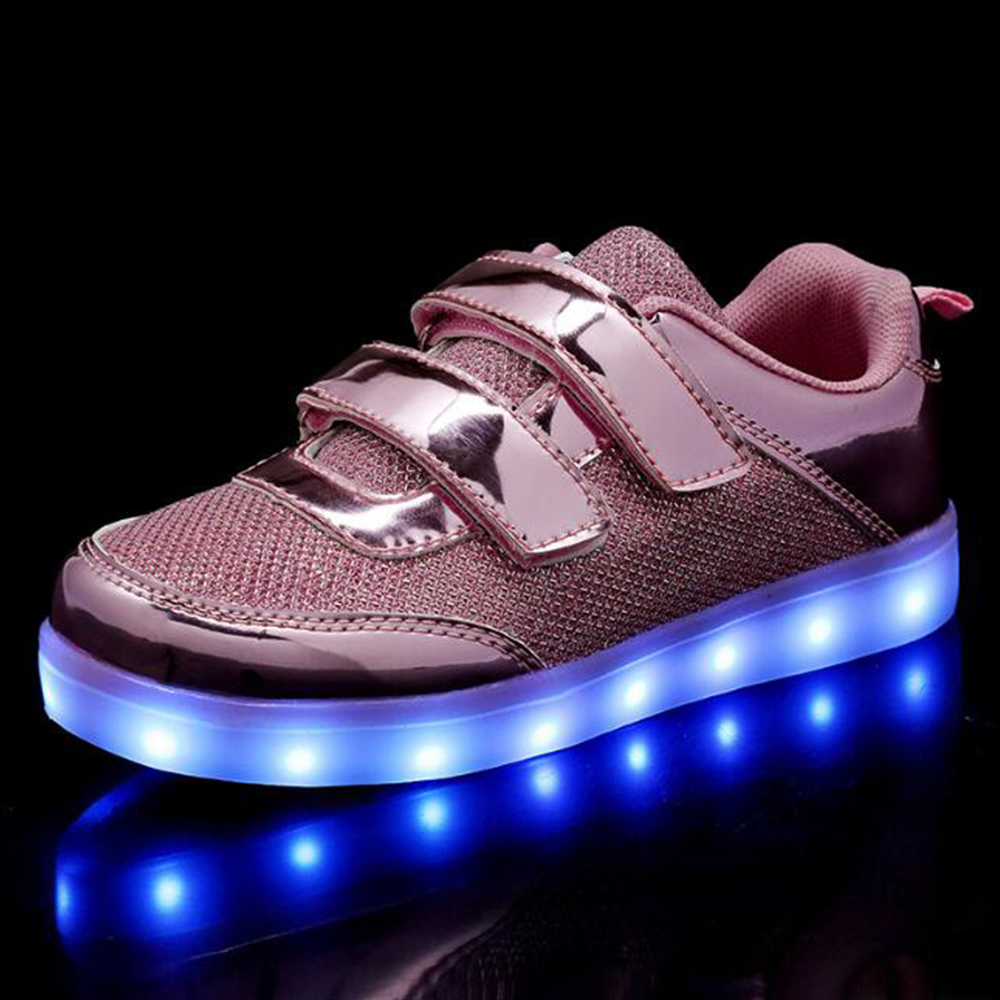 2019 Winter Autumn Kids Light Up Shoes Toddler Boy Shoes Kids Glowing Sneakers Light Shoes Toddler Sport Sneakers Chaussures D20