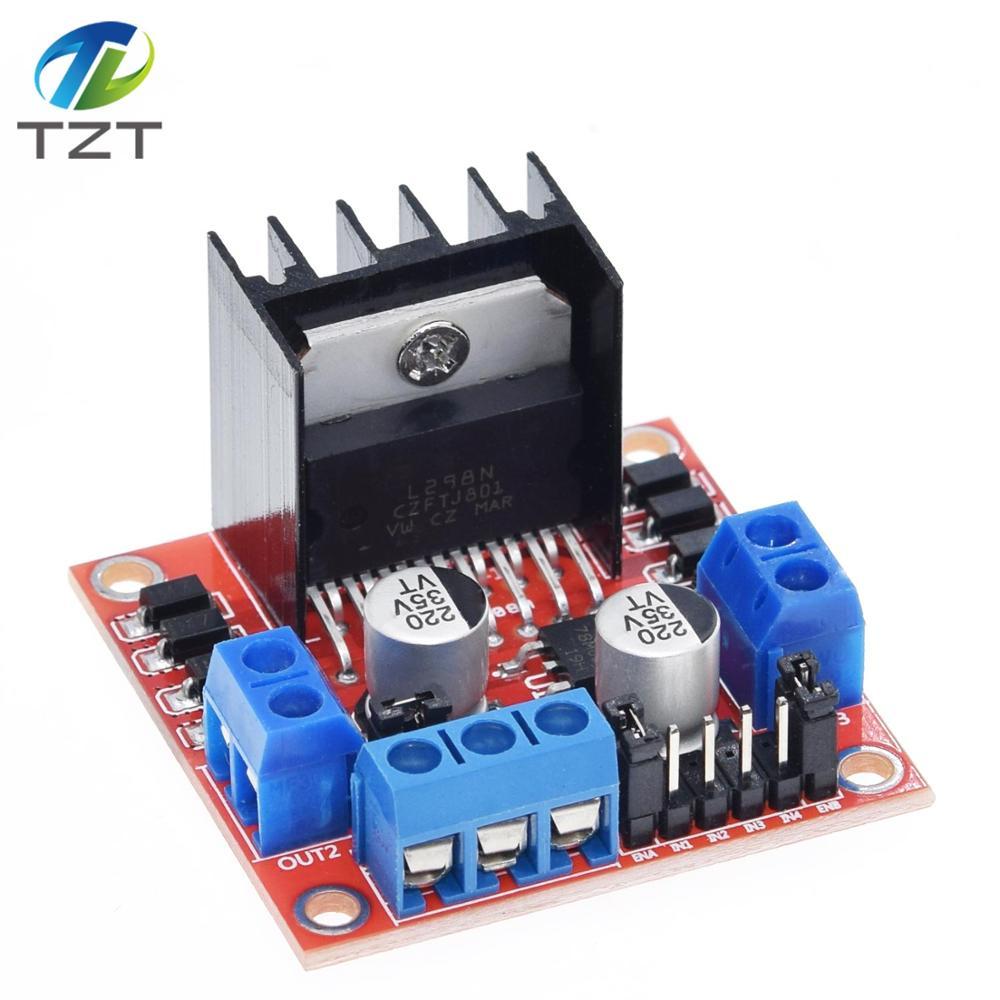 L298 Новый Двухканальный мост постоянного тока, шаговый двигатель, плата контроллера, Модуль L298N для Arduino, шаговый двигатель, умный автомобиль...