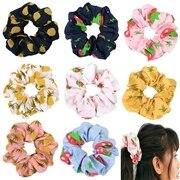 Korean Women Hearwear Girls Hair Tie Elastic Hair Bands Lady Scrunchies Ponytail Holder Rope Pineapple Print Hair Accessories kids pineapple print tie dress