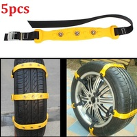 5pcs/set Car Tyre Winter Roadway Safety Tire Snow Adjustable Anti skid Safety Double Snap Skid Wheel TPU Chains