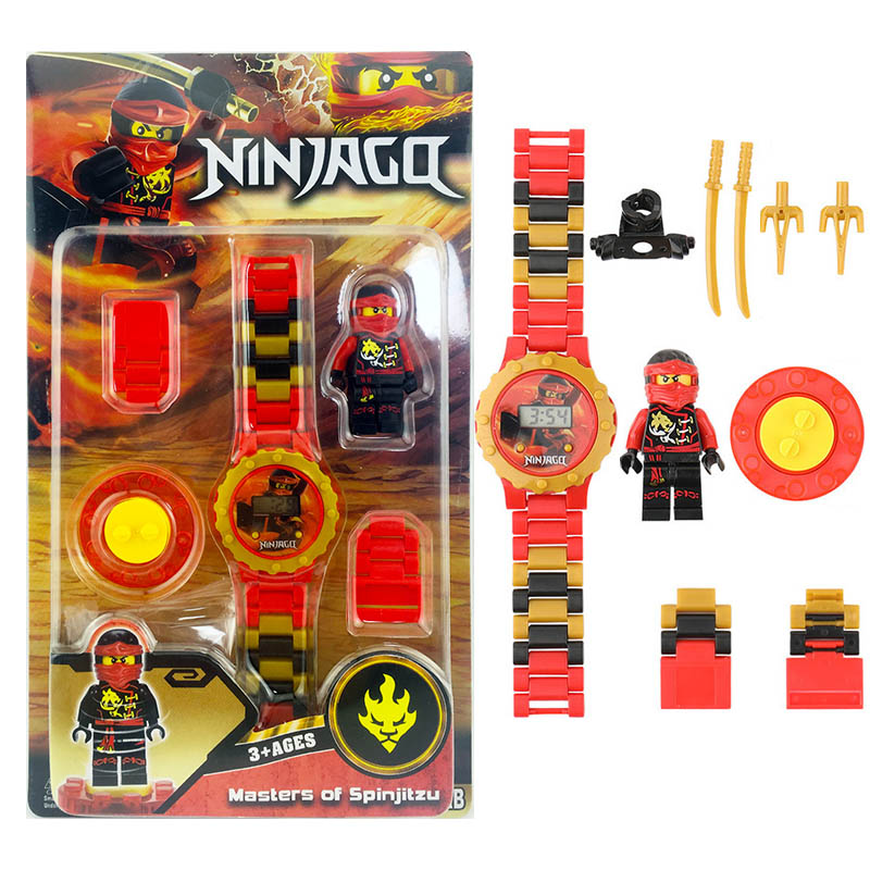 Ninjagoing Building Blocks Series Mini Watch Avengers Marvel Batman Iron Man SpiderMan Compatible Legoinglys Toy For Kids