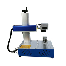 30W 20W 200x200mm fiber laser marking machine split Raycus source rotary axis included for ring nameplate logo phone cover