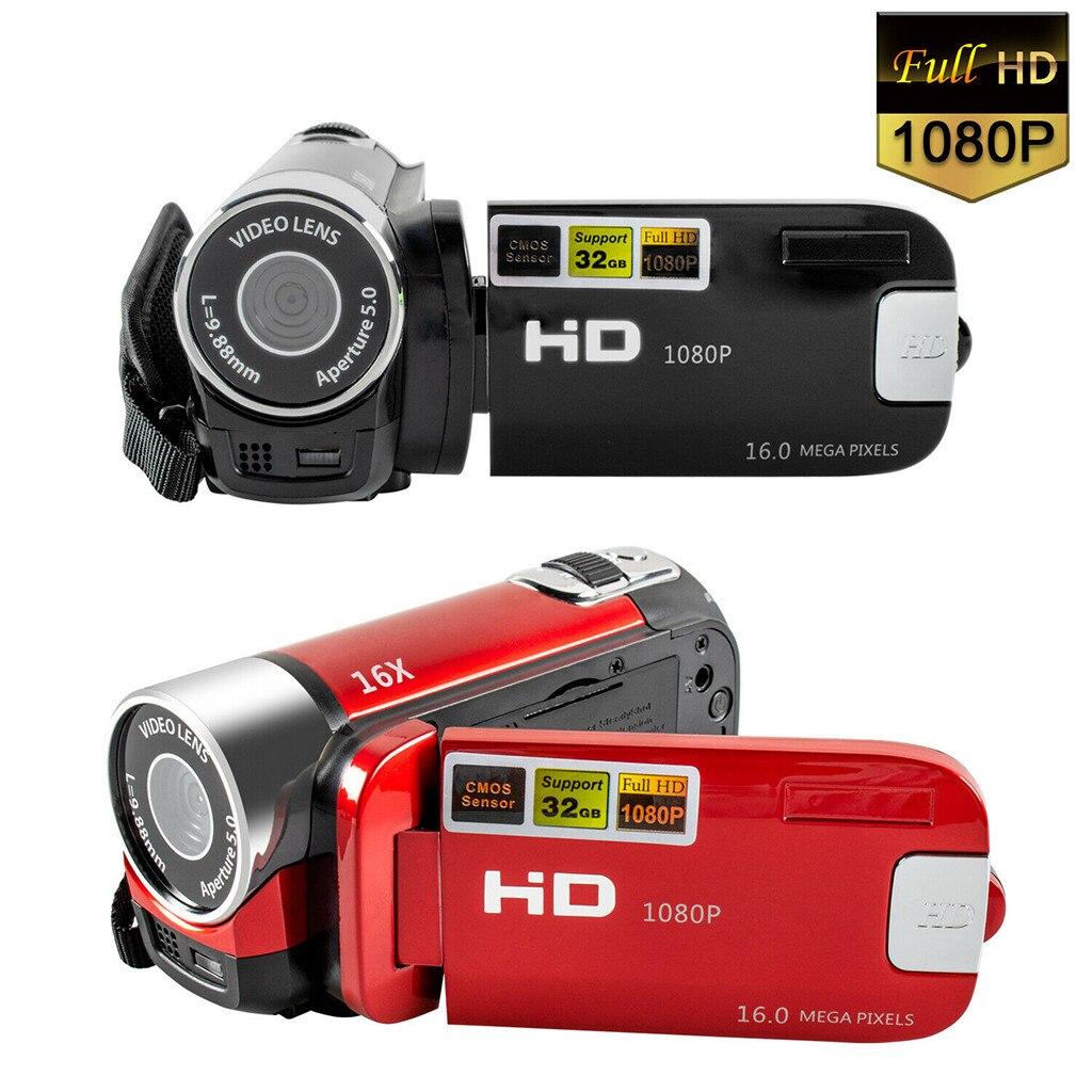 2020 Full HD 1080P Digital Camera AVI Video Resolution 2.7 inch LCD Screen 270°rotation16X Digital Zoom Anti-Shaking Shooting
