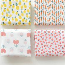 Meio metro verão vestido shorts fino macio 100% algodão tecido liso, bonito cenoura abacaxi toranja vermelho flor impressão t1135