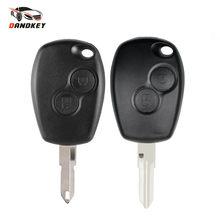 Dandkey-carcasa de llave remota para coche, para protector antipolvo para Renault, Clio, DACIA 3, Twingo, Logan, Sandero, Modus, 2 botones, llave de alarma para coche
