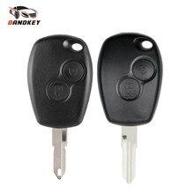 Dandkey Remote Key Shell For Renault Duster Clio DACIA 3 Twingo Logan Sandero Modus For Nissan 2 Buttons Car Alarm Key Case