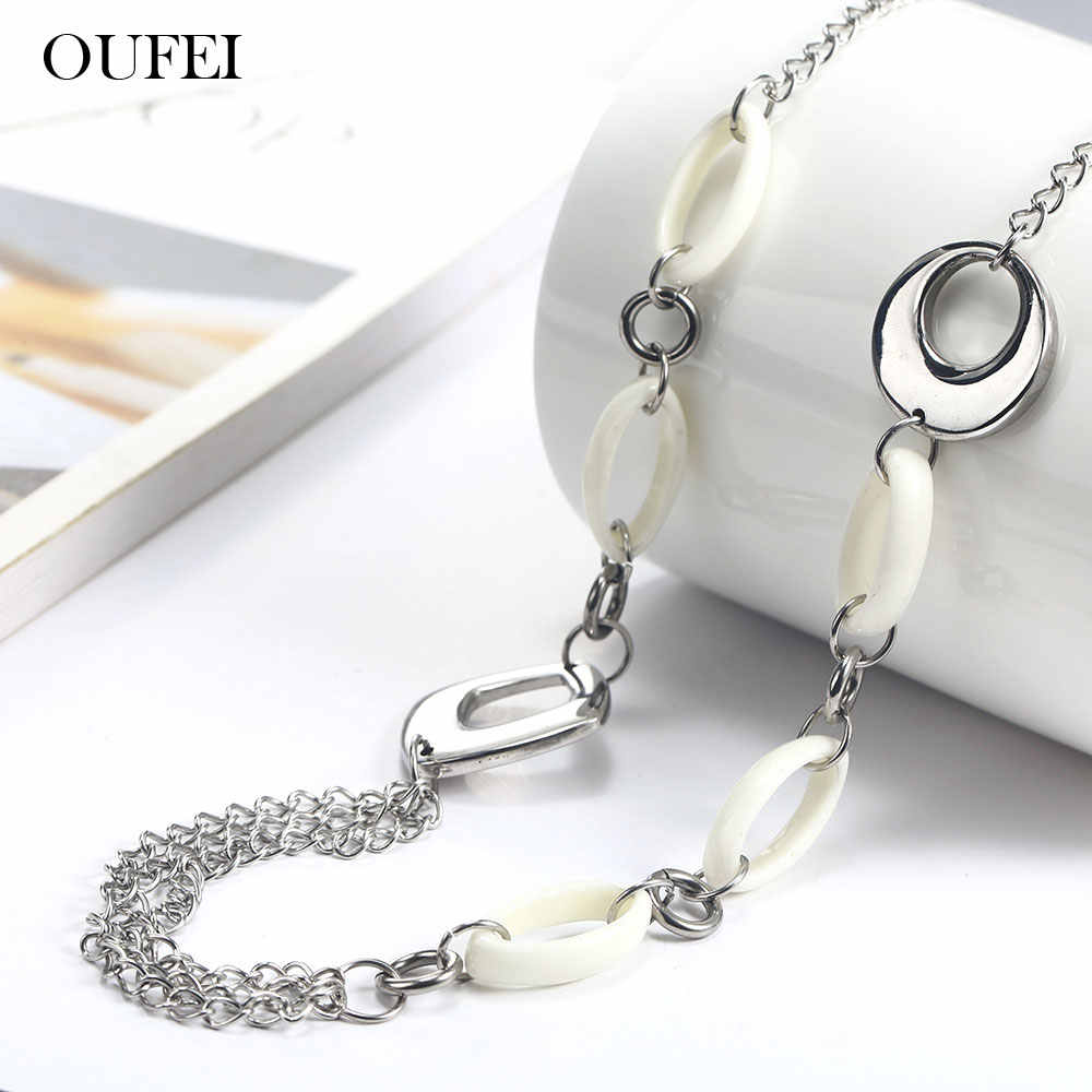 OUFEI stainless steel woman jewelry long necklace for women fashion jewelry accessories bohemian choker