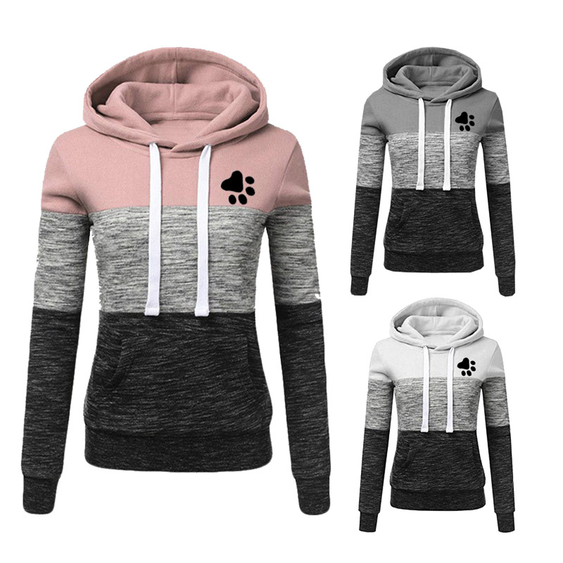 Women Hoodies Sweatshirts Autumn Winter Long Sleeve Pocket Pullover Hoodie 2019 Female Casual Warm Printed Hooded Sweatshirt