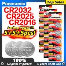 Gorąca sprzedaż PANASONIC 5 sztuk oryginalny cr2016 + 5 sztuk cr2025 + 5 sztuk cr2032 3v przycisk komórki monety baterie litowo-jonowe na zegarek samochodzik