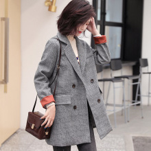 High quality womens blazer Trend Retro Long Sleeve Plaid Suit Jacket Women Autumn and winter new fashion coat Office jacket
