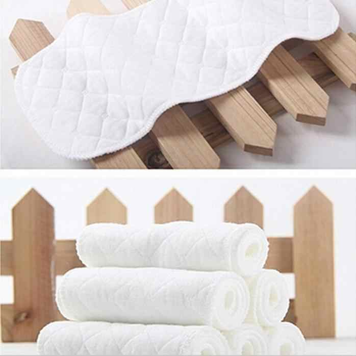 5 pcs 1 piece reusable baby diapers / 3 layers cloth bamboo diaper inserts Eco washable cotton baby care diaper product dropship