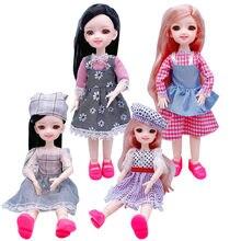 2020 boneca 30 cm 20 móvel joint doll 3d olhos de plástico boneca menina brinquedo feminino corpo vestido crianças jogar casa moda presente natal