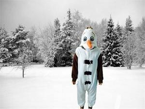 Image 4 - kigurumi Anime Adult Snowman Costume Pajamas Cosplay Jumpsuit Adult Pyjamas Party Dress