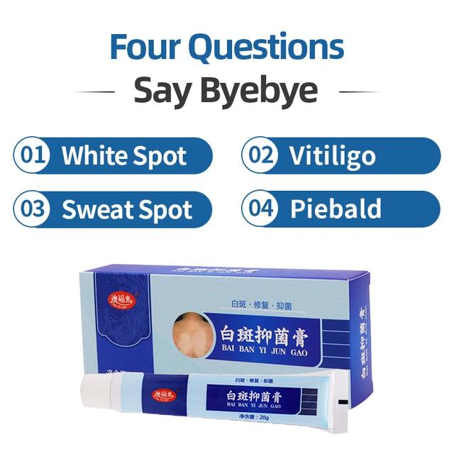 Crema antibacteriana Vitiligo médica china que promueve el pigmento de la enfermedad de Leukoplakia, yeso para tratamiento de manchas blancas de piel de melanina