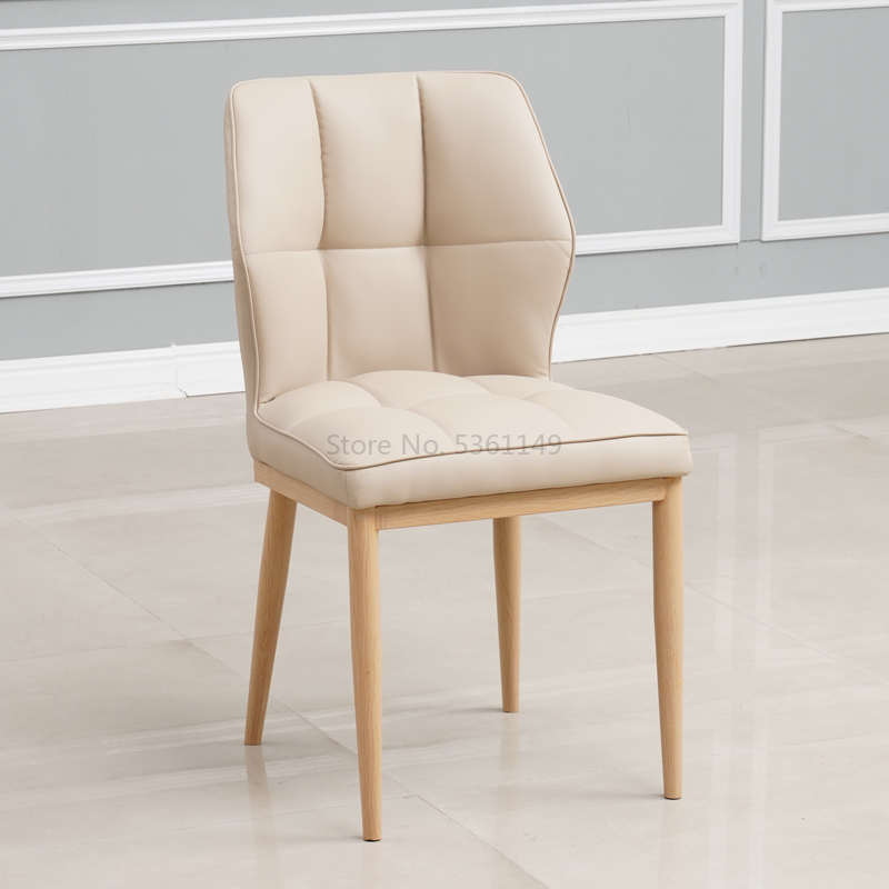 Nordic Dining Chair Home Light Luxury  Table and s Modern Wrought Iron   American Soft Foreskin