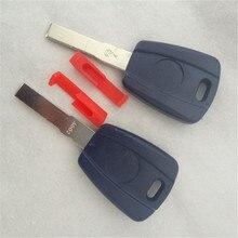 DAKATU с логотипом Заготовка ключа замка зажигания автомобиля оболочка авто транспондер ключ чехол пустой чехол подходит для Fiat SIP22 Blade