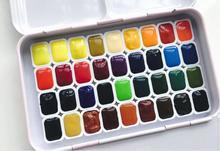 36 renk katı suluboya kek boya sanatçı Pigment öğrenci yetişkin sanat çizim seti için uyumlu schmincke 1ML yükleme
