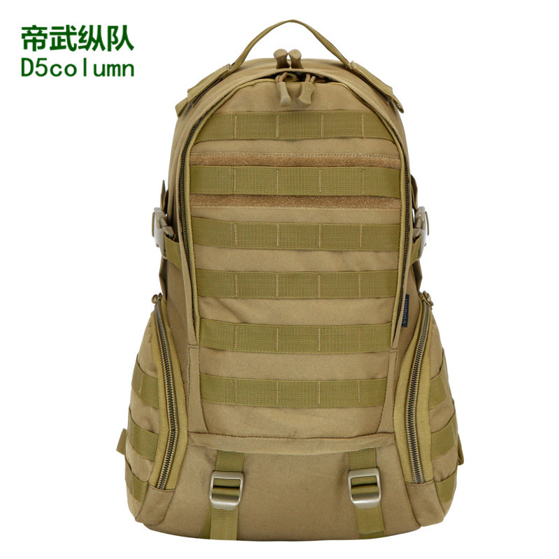 Large Capacity Waterproof Nylon Sports Backpack Outdoor Camouflage Army Fans Tactical Backpack Riding Mountaineering Bag Wholesa
