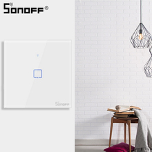 SONOFF Touch EU/US Wall Switch Wifi 1 Gang Way Touch Panel eWelink Remote Control Smart