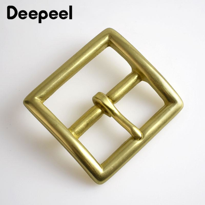 2pieces Deepeel 38/40mm Pure Solid Brass Belt Pin Buckles Cosplay Cowboy For 36-39mm Belt Decor Leather Craft Jeans Accessories