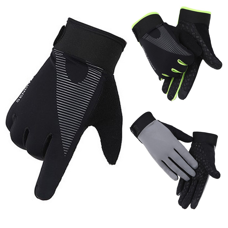 Newly 1 Pair Bike Bicycle Gloves Full Finger Touchscreen Men Women  MTB Gloves Breathable Summer Mittens Lightweight Riding Glov