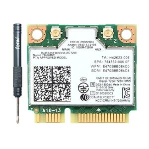 Image 1 - Dual Band Wireless AC Intel 7260 7260HMW 7260AC 2.4G/5Ghz 802.11ac MINI PCI E 2x2 WiFi Card Wi Fi + Bluetooth 4.0 Wlan Adapter