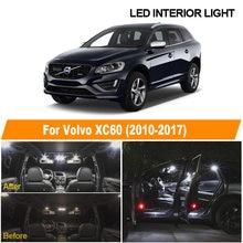 Lâmpadas led canbus branca sem erro, kit de luz interior para 2010-2015 2016 2017 volvo xc60 teto de leitura lâmpada da licença de carga