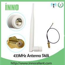 433 МГц Антенна 5dbi GSM 433 МГц SMA разъем антенна antena 433 м+ RP-SMA SMA мама к Ufl./IPX отрезок провода расширения кабель