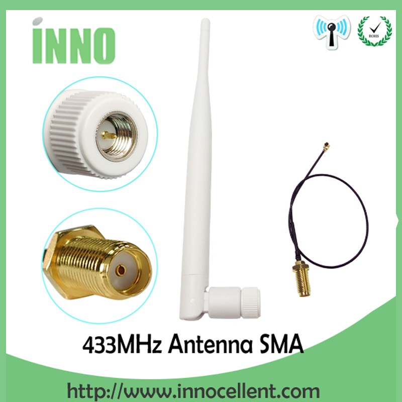 433Mhz Antenna 5dbi GSM 433 Mhz SMA Male Connector Aerial Antena 433m + RP-SMA SMA Female To Ufl./IPX Extension Pigtail Cable