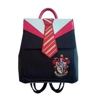 2019 New Gryffindor Badge Tie Backpack Slytherin Cosplay Halloween Costume Teenages Fashion Backpack Magic College Travel Bag
