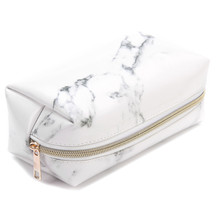 Pouch Pencil-Case Pen-Box Stationery Makeup-Bag School-Supplies Large-Capacity Marble