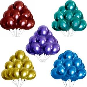 Image 3 - 10/20/30 adet gümüş pembe siyah Metal lateks balonlar helyum Globos düğün süslemeleri mutlu doğum günü partisi balon anniversaire