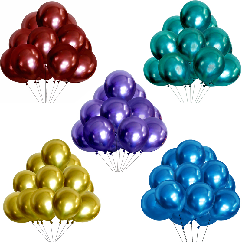 Image 3 - 30pcs 12inch Gold Silver Black Metal Latex Balloons Wedding Decorations Matte Helium Globos Birthday Party Decoration Adult-in Ballons & Accessories from Home & Garden