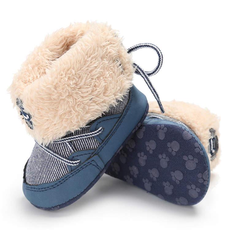 Inverno sapatos de bebê menino menina booties