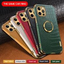Padrão de crocodilo couro caso titular para iphone 11 12 pro max xr x xs max 7 8 plus caso para iphone 12 mini se 2020 telefone capa
