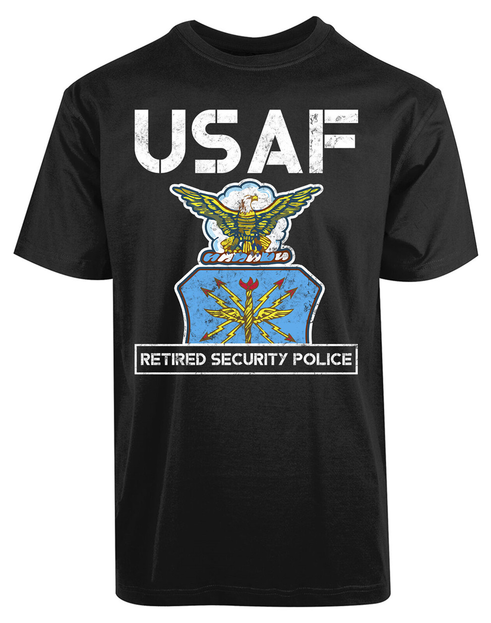 <font><b>Usaf</b></font> Retired Security Police New Men'S <font><b>Shirt</b></font> Hard Worker Respect Officer Top Tee Summer Style Casual Wear Tee <font><b>Shirt</b></font> image