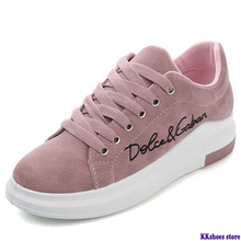 2020 Spring Autumn New Wedges Pink Lace-up Platform Sneakers Women Vulc