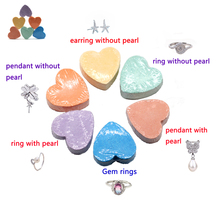 Bath Bombs with SS pearl ring 50PCS and 100pcs gem rings