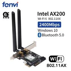 להקה כפולה אלחוטי-AC PCI Wi-Fi מתאם רשת כרטיס Wi-Fi 6 Intel AX200 NGW NGFF עם 802.11 ac/ ax Bluetooth5.0 לשולחן עבודה