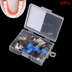 10Pcs/20Pcs Dental Sectional Contoured Matrix Dental Orthodontic Twin Anterior Matrice Dentist Polyester Matrices 2 Styles