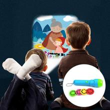 все цены на New Baby Sleeping Story Flashlight Projector Lamp Toys Four Children's Tales Light-up Toy For Kids Educational Toys онлайн