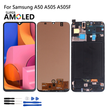 Amoled For Samsung Galaxy A50 A505 A505F/DS A505FD A505F A505A LCD Display Touch Screen Digitizer Glass Assembly For Smasung A50