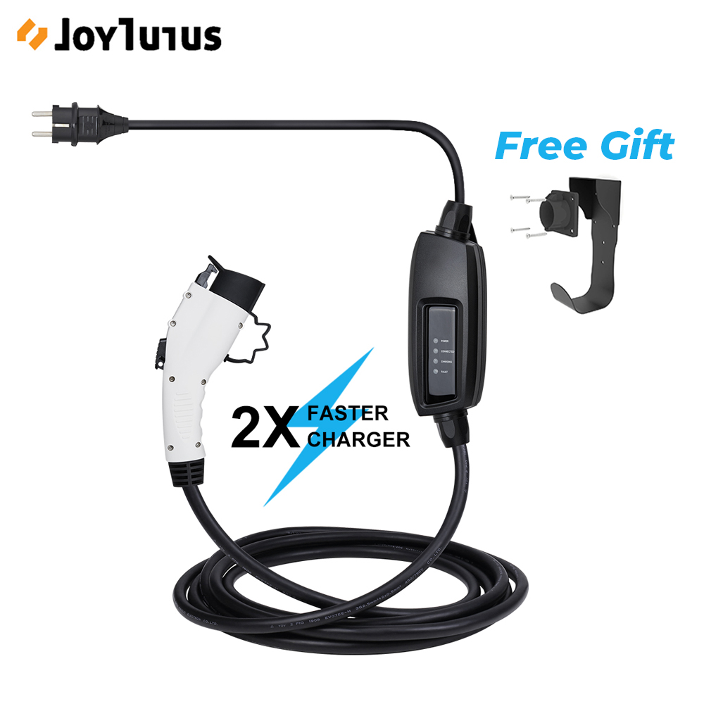 Level 2 EV Charger Cable Type 1 16A 6m Schuko for EVSE <font><b>J1772</b></font> Electric Vehicle Charging Electric Car Charger Cable image