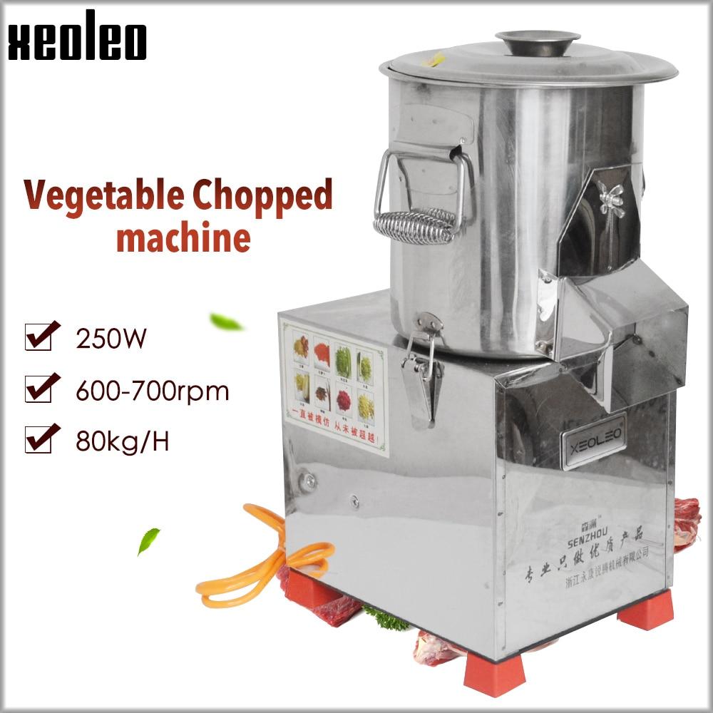 Ev Aletleri'ten Mutfak Robotları'de Xeoleo 80 kg/saat sebze doğranmış makine parçalama makinesi turp/soğan/zencefil/sarımsak/patlıcan/patates sebze kesici title=